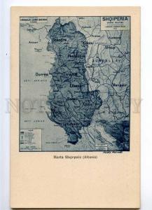235458 SHQIPERIA ALBANIA MAP Vintage Alterocca postcard