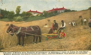 Advertising International Harvest 1910 Finland Farm Agriculture Postcard 20-5704