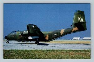 Wright Patterson Air Force Base OH, DeHavilland C-7A, Chrome Ohio Postcard