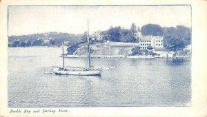 Double Bay & Darling Point, Australia Sydney Mail Card ca 1910s Vintage Postcard