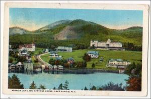 Mirror Lake & Stevens House, lake Placid NY