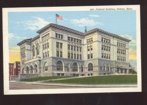HELENA MONTANA FEDERAL BUILDING COURT HOUSE VINTAGE POSTCARD