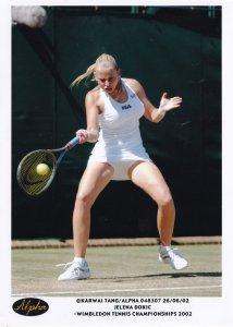 Jelena Dokic Wimbledon 2002 Alpha Tennis Press Photo