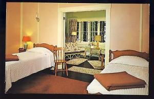 Wolfboro, New Hampshire/NH Postcard, Pick Point Lodge, Room,