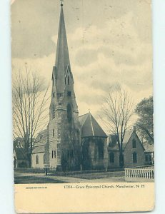 Divided-back CHURCH SCENE Manchester New Hampshire NH AD1950