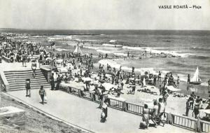 Romania Vasile Roaita crowded beach 1960s