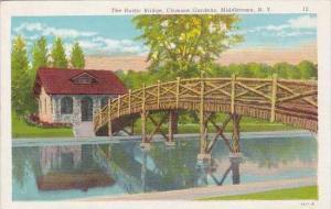 New York Middletown The Rustic Bridge Clemson Gardens