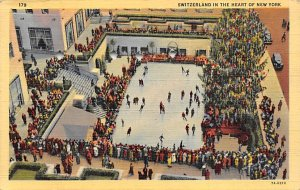 Rockefeller Plaza Skating Pond NY, USA Snow Sport 1943