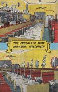 BARABOO , Wisconsin, 1930-40s ; The Chocolate Shop, 2-views