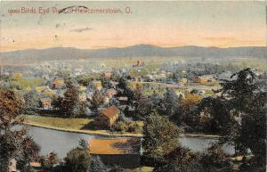 F63/ Newcomerstown Ohio Postcard Birdseye View River Homes 5