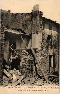 CPA Tremblement de Terre - LAMBESC - Maison en ruines (214026)