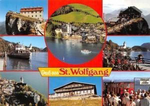 Gruss aus St Wolfgang Romantikhotel im Weissen Roessl Gasthaus Schiffstation