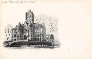 Iowa City Iowa Johnson County Court House Antique Postcard J63173