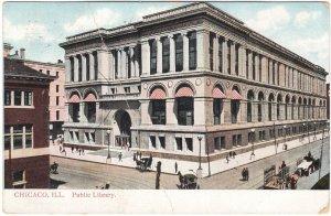 Post Office, Chicago, Illinois, Antique 1910 Postcard