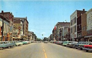 Henderson KY Main Street Store Fronts  Old Cars Postcard