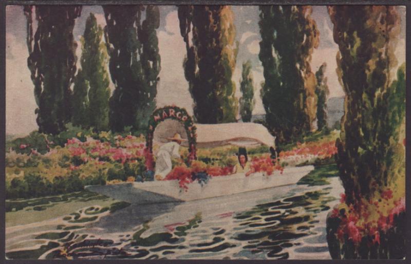 Xochimilco,Mexico Postcard