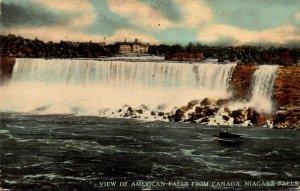 New York Niagara Falls View Of American Falls From Canada Curteich