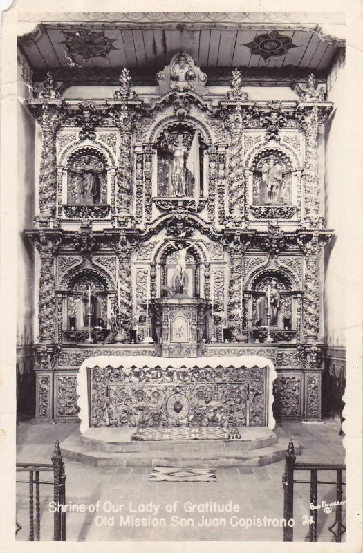 RP, Interior- Shrine Of Our Lady Of Gratitude, Old Mission San Juan Capistran...