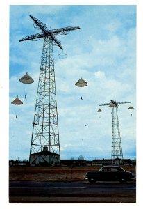Military - Jump Towers at Fort Benning, Georgia. Parachute Training