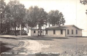 D35/ Walker Minnesota Mn Real Photo RPPC Postcard c40s Camp Cooper Entrance