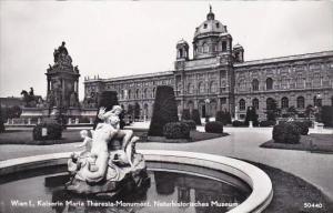 Austria Vienna Kaiserin Maria Theresia Monument Real Photo