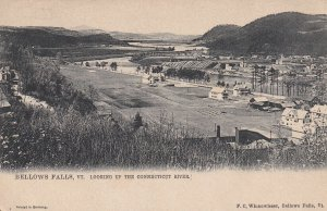 BELLOWS FALLS, Vermont, 1900-1910's; Looking Up The Connecticut River, Tuck 1078