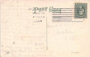 Mason City Iowa~Park Hospital~American Flag~Vintage Car in Street~1918 Postcard
