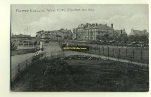 tp2762 - Flower Gardens , West Cliff , Clacton-on-Sea , Essex - postcard