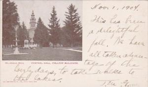 Michigan Hillsdale Central Hall College Buildings 1902