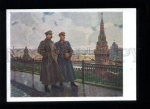 136413 STALIN & VOROSHILOV Soviet military commander Old PC