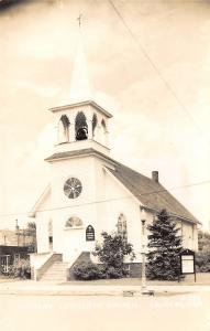 Laurens Iowa~Bethany Lutheran Church~Formerly Swedish~House Next Door~1940s RPPC