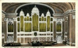 Kotzschmar Memorial Organ, City Hall Portland, Me, Maine Opera Unused big cre...