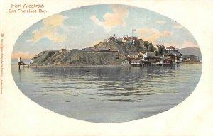 FORT ALCATRAZ San Francisco Bay, California ca 1907 Vintage Postcard