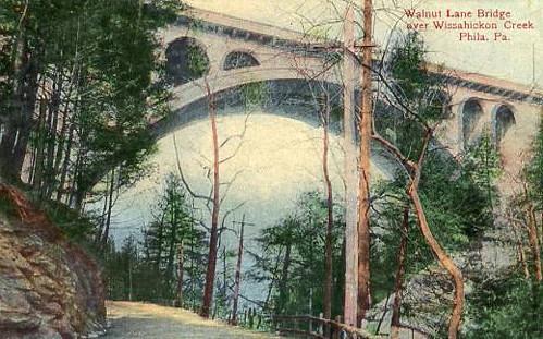 PA - Philadelphia. Walnut Lane Bridge over Wissahickon Creek
