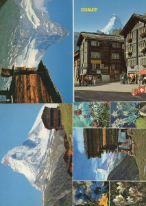 Zermat Zermatt Switzerland 4x Swiss 1980s Postcard s