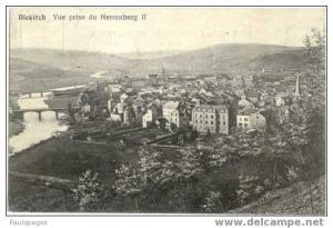 Diekirch Vue prise du Herrenburg II, Grand-Duche de Luxemborg,  Divided B