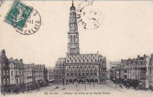 France Arras L'Hotel de Ville et la Petite Place 1910