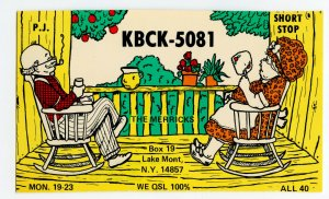 QSL Radio Card From Lake Mont Lakemont N. Y. New York KBCK-5081