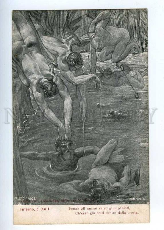 202497 Dante Inferno Art Nouveau De Karolis Old Alterocca