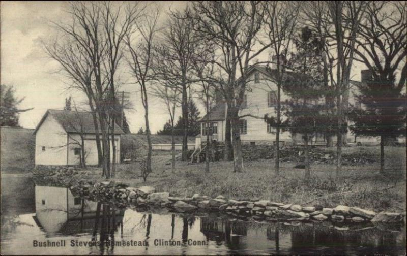 Clinton CT Bushnell Stenes Homestead c1910 Postcard