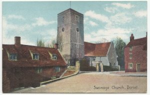 Dorset; Swanage Church PPC By Shurey's, Unposted, c 1910's