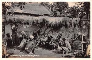 Bali Indonesia, Republik Indonesia Voorbereiding tot een hanengevecht Bali Vo...