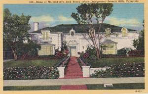 California Beverly Hills Home Of Mr and Mrs Jack Benny Curteich