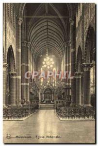 Old Postcard Maredsous Abbey Church