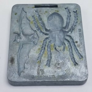 1964 Thingmaker Creepy Crawlers Bat Spider Mold Mattel 4477 056 6B Tarantula Bat