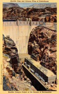 Arizona Boulder Dam and Arizona Wing Of Powerhouse 1945 Curteich