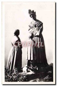 Old Postcard Our Lady of La Salette the Virgin of Conversation
