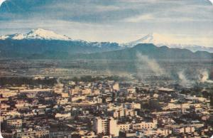 Aerial View, Snow-Covered Volcanoes Near Mexico City, Mexico, 40-60´s