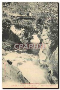 Old Postcard The Pyrenes Luchon Road Valley of Lus \\ ys