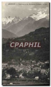 Old Postcard Panorama Argeles and Mountains Auzun